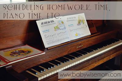 scheduling piano practice