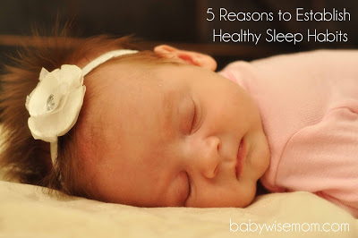 5 Reasons to Establish Good Sleep Habits for your baby and children.