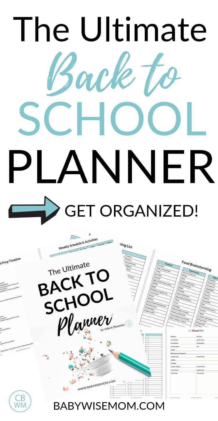 Back to school planner pinnable image