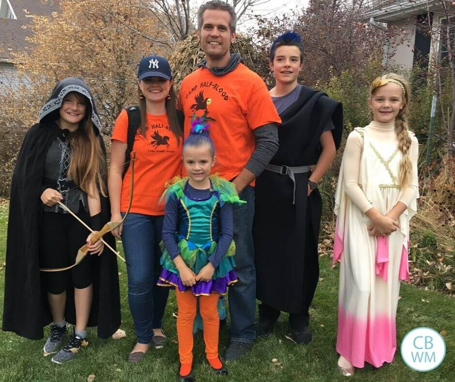 Family dressed up for Halloween