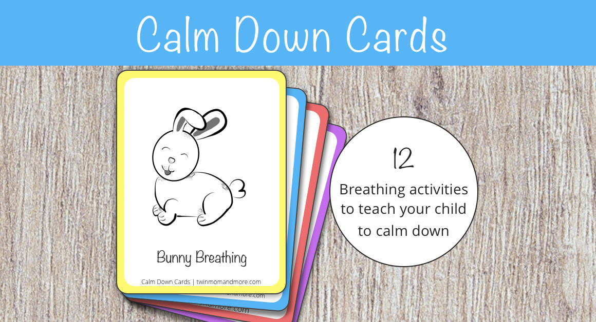 12 calm down cards for deep breathing