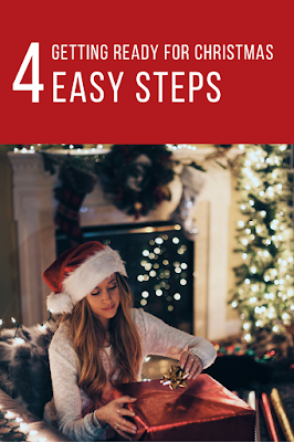 Getting Ready for Christmas in 4 Easy Steps. All of the preparation for Christmas broken down into four manageable steps so moms can easily prepare. How to get ready for Christmas early.