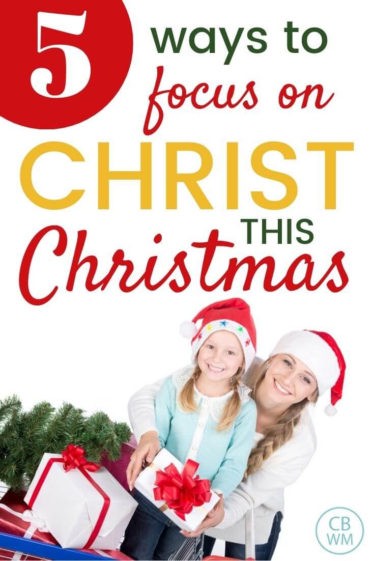 Christ centered Christmas pinnable image