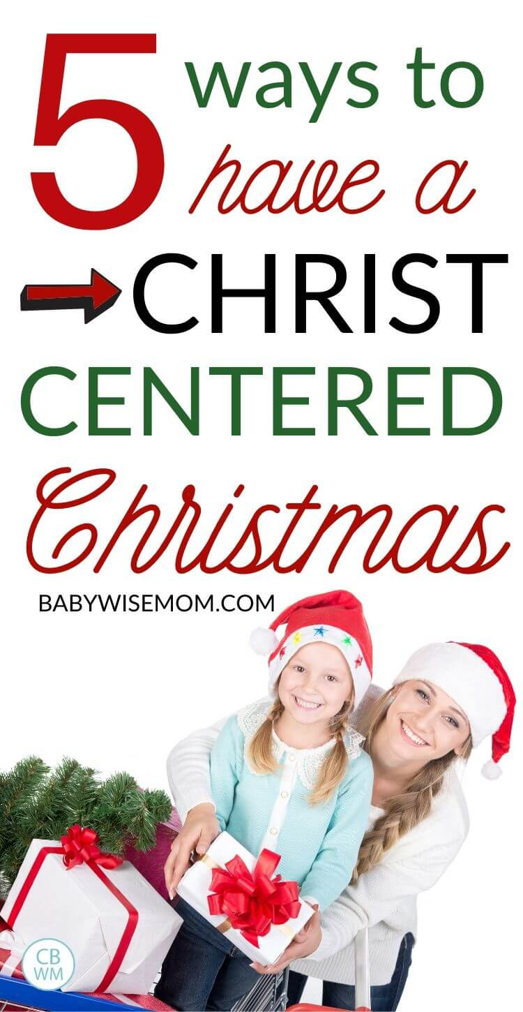 How to have a Christ-Centered Christmas pinnable image