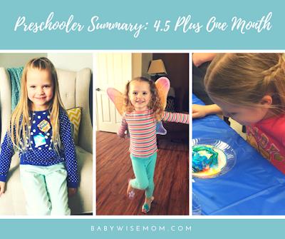 Brinely preschooler summary: 4.5 plus one month