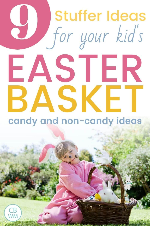 Easter basket stuffer ideas pinnable image
