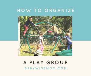 How to organize a play group