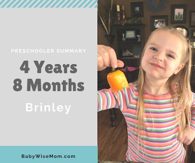 Brinley 4 years 8 months summary and schedule