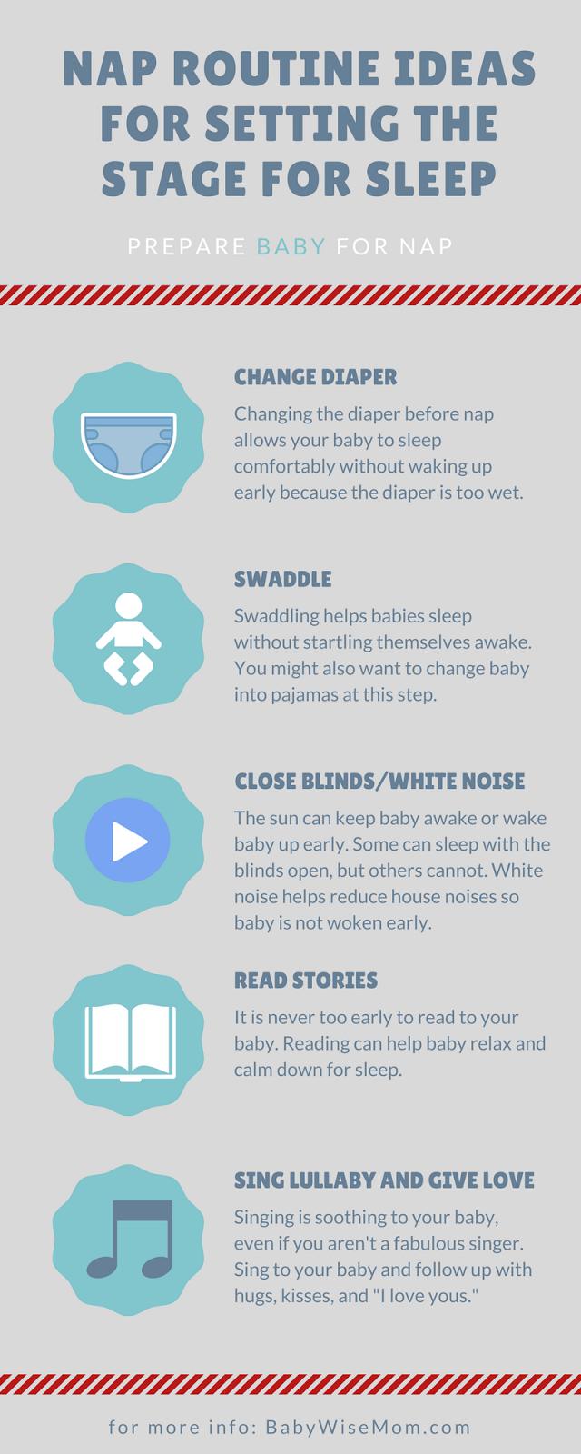 Nap routine infographic
