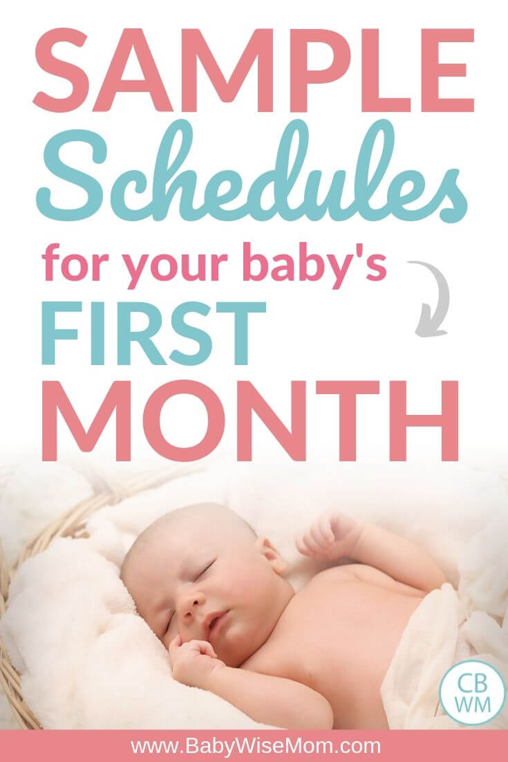Sample schedules first month Pinnable Image