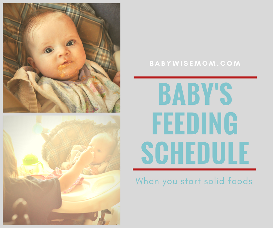 How to work feeding baby solid foods into your daily schedule