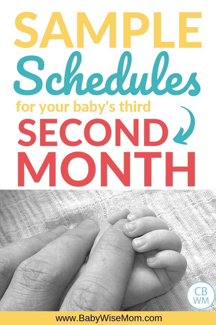Sample Schedules Second Month Pinnable Image