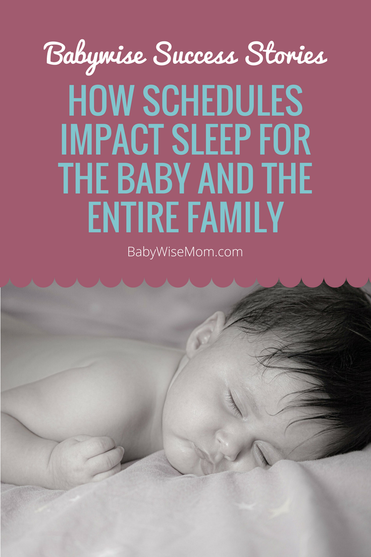 How Schedules Impact Sleep for the Baby and the Entire Family