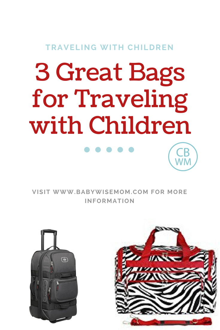 3 great bags for traveling with children