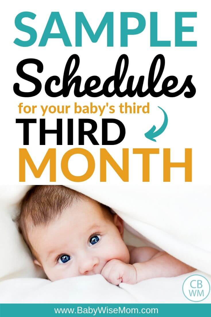 Sample schedules for third month for baby Pinnable Image