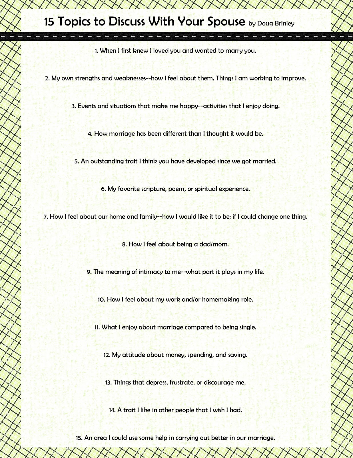 15 topics to discuss with your spouse