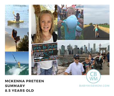 McKenna Preteen Summary: 8.5 Years Old