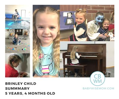 Brinley Child Summary {5 Years 4 Months Old}