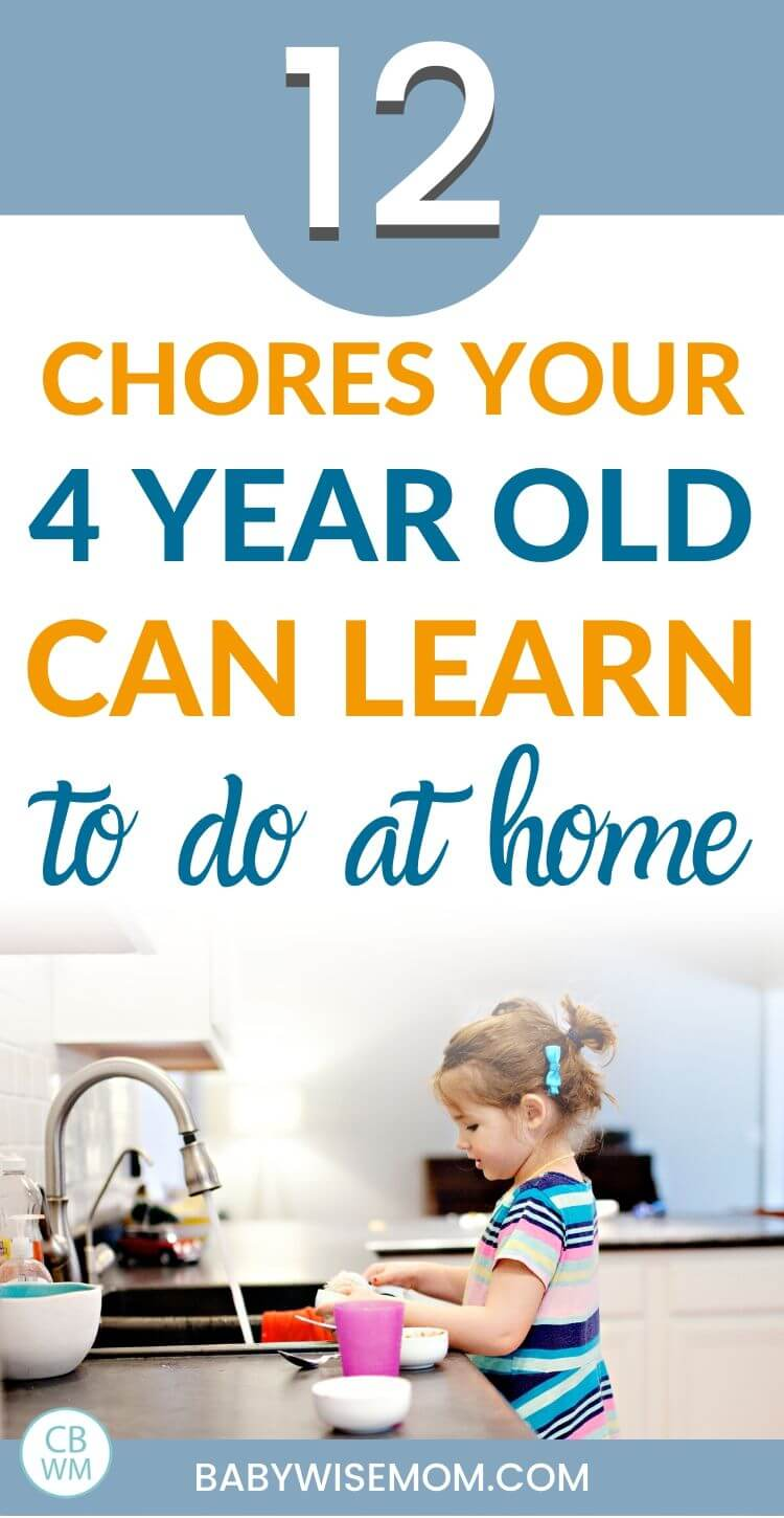 4 year old chores pinnable image