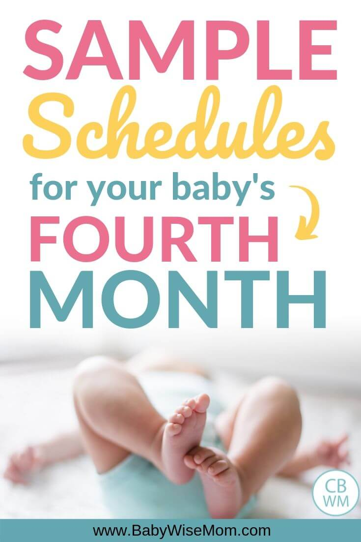 Sample schedules fourth month Pinnable Image