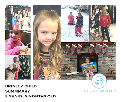 Brinley Child Summary {5 Years 5 Months Old}