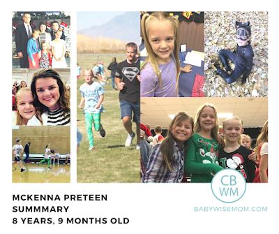 McKenna Preteen Summary: 8.75 Years Old