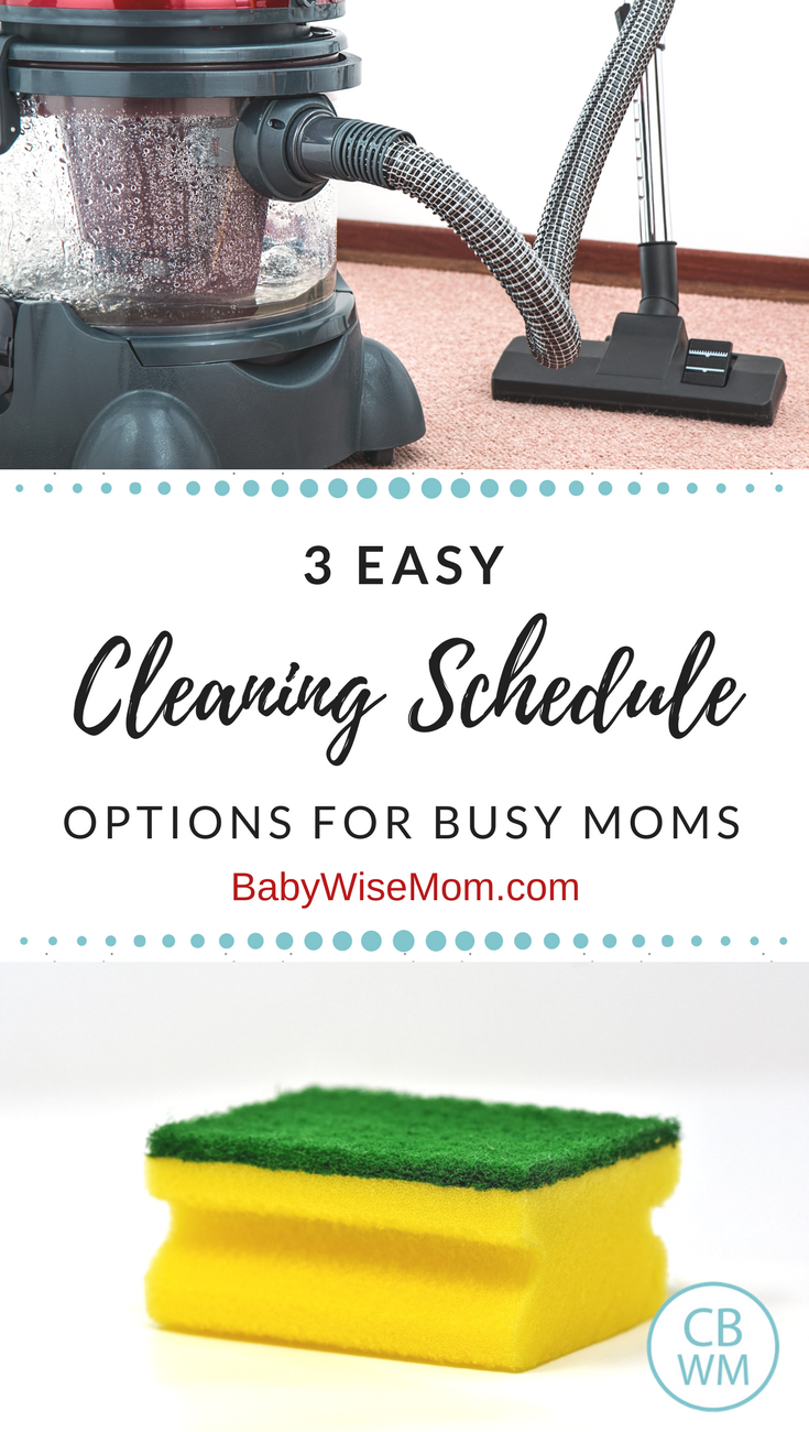 Easy Cleaning Schedule Options for Busy Moms | Cleaning schedules | #cleaning