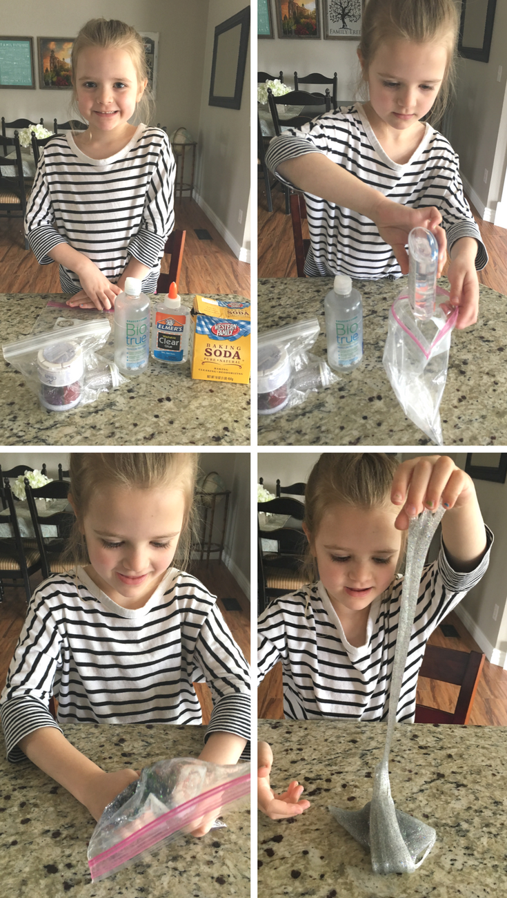 How To Make Glitter Slime That Isn't Sticky. This is great for birthday parties, class activities, or sensory learning activities.