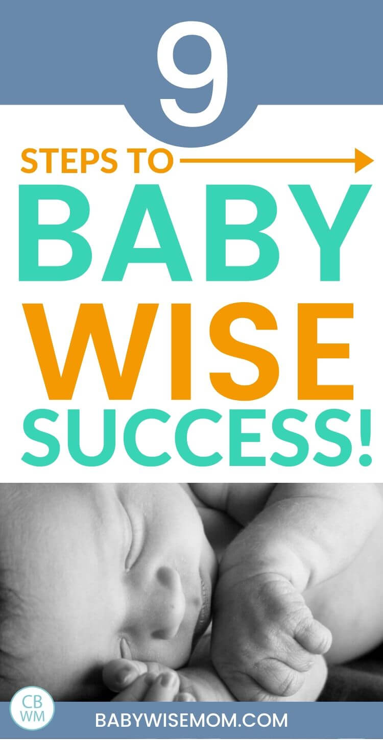 Babywise success steps pinnable image