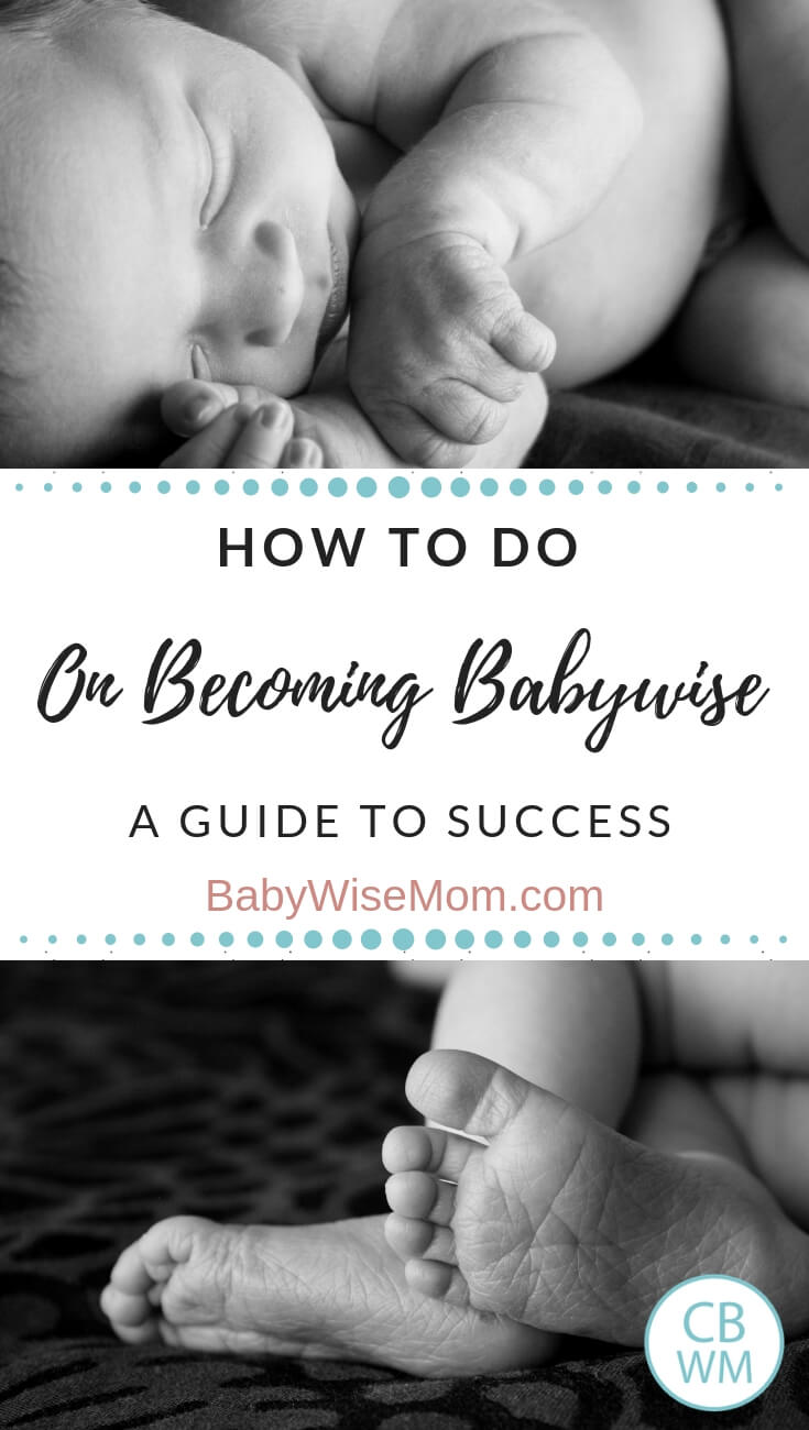 Images of a newborn baby with text that reads: How to do On Becoming Babywise a guide to success""