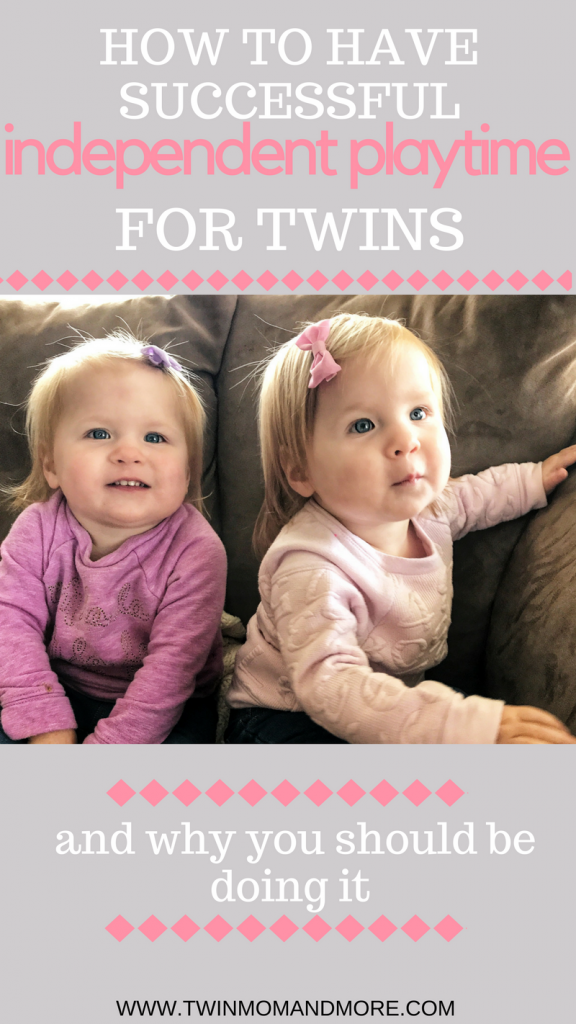 How to get your twins to play independently each day. This is great for giving twins some time alone.