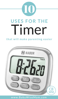 Uses For a Timer That Will Make Parenting Easier. Tips for making discipline, chores, reading, and technology tracking easier.