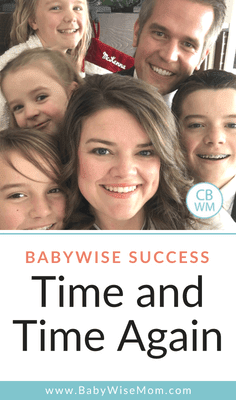 Babywise Success Happens Over and Over Again. Babywise goes beyond baby sleep!
