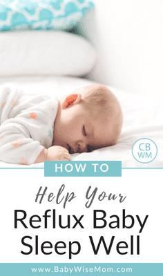How To Help Your Reflux Baby Sleep. Sleep tips for reflux babies. Get your reflux baby sleep as well as possible.