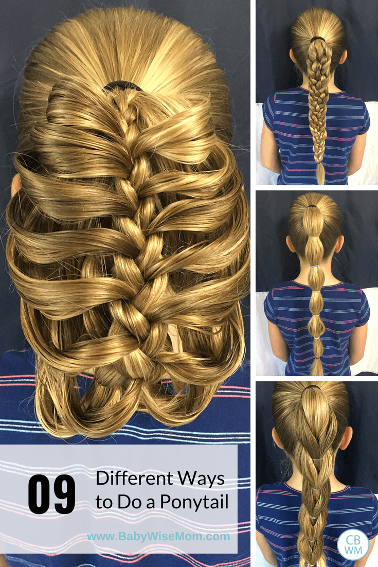 9 Different Ponytail Hair Ideas. Ponytails do not have to be boring. They can be beautiful and fun! Here are nine different ways to do a ponytail that are still functional.