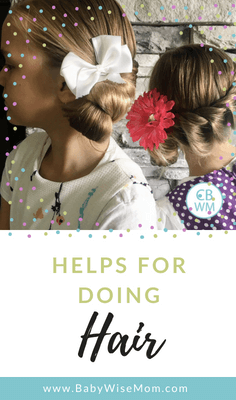 Ideas to do your daughter's hair. Hairstyle ideas and tutorials. Information to doing your own hair as a mom.