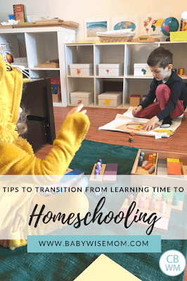 From Learning Time to Homeschooling: A Seamless Transition. How doing learning activities in preschool years helps you prepare for homeschool during school years.