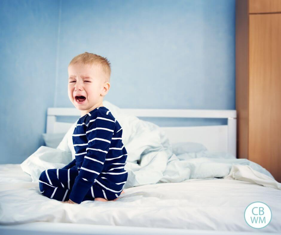 Toddler crying in bed