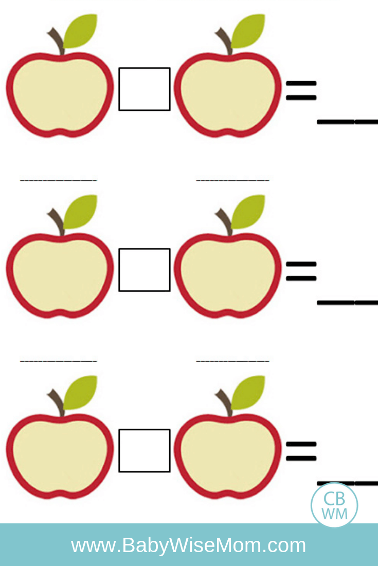 Apple Math Learning Activity for Fall