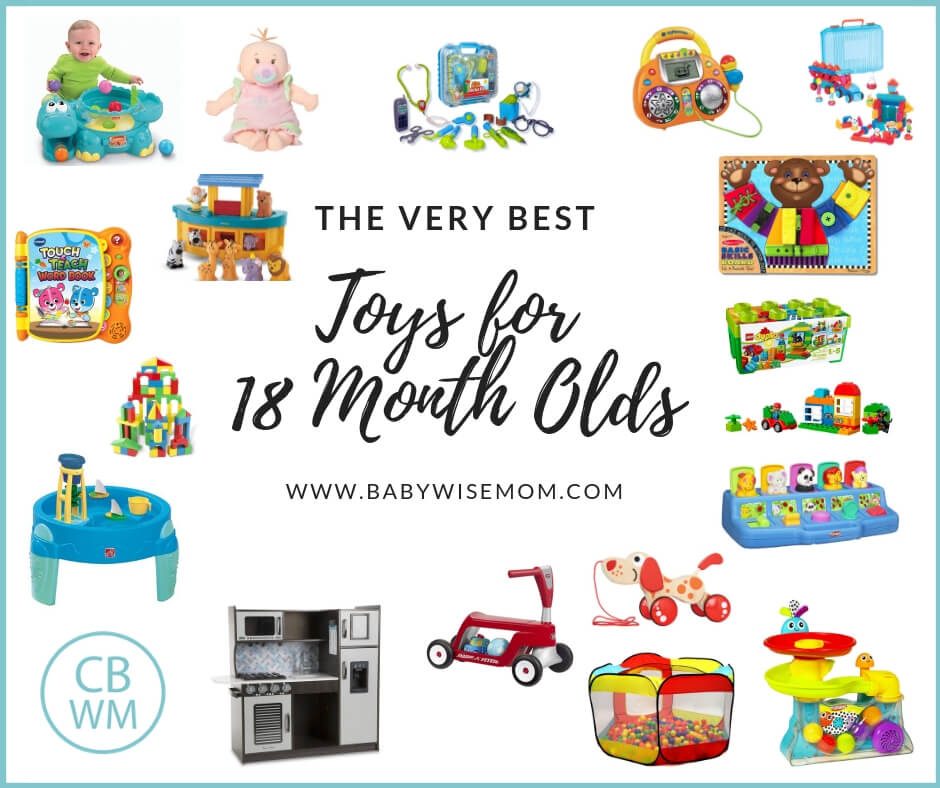 The Best Toys for 18 Month Olds. A big list of toys worth getting for your 18 month old toddler to play with. These are great for a gift list!
