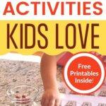 5 fun fall learning activities kids love pinnable image