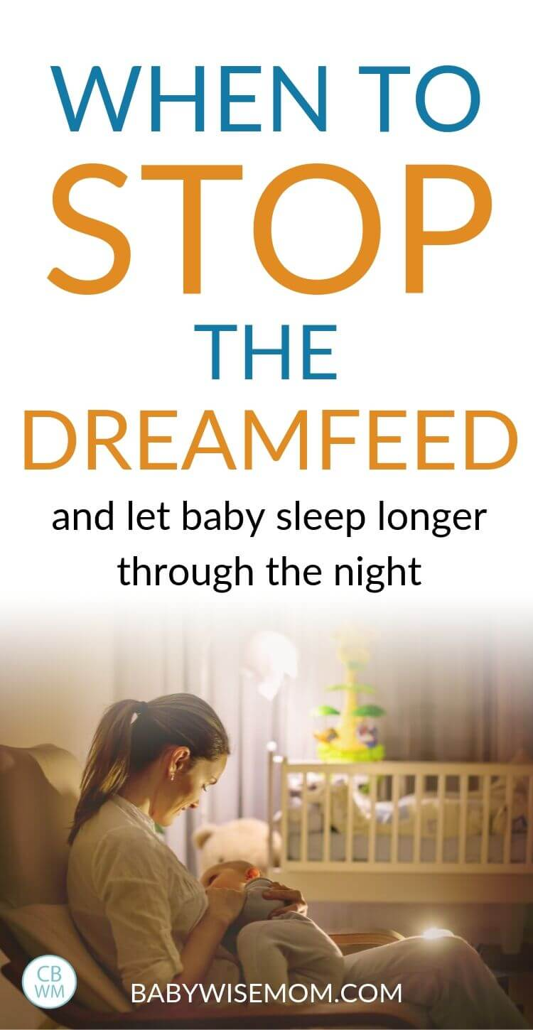 When to stop the dreamfeed pinnable image