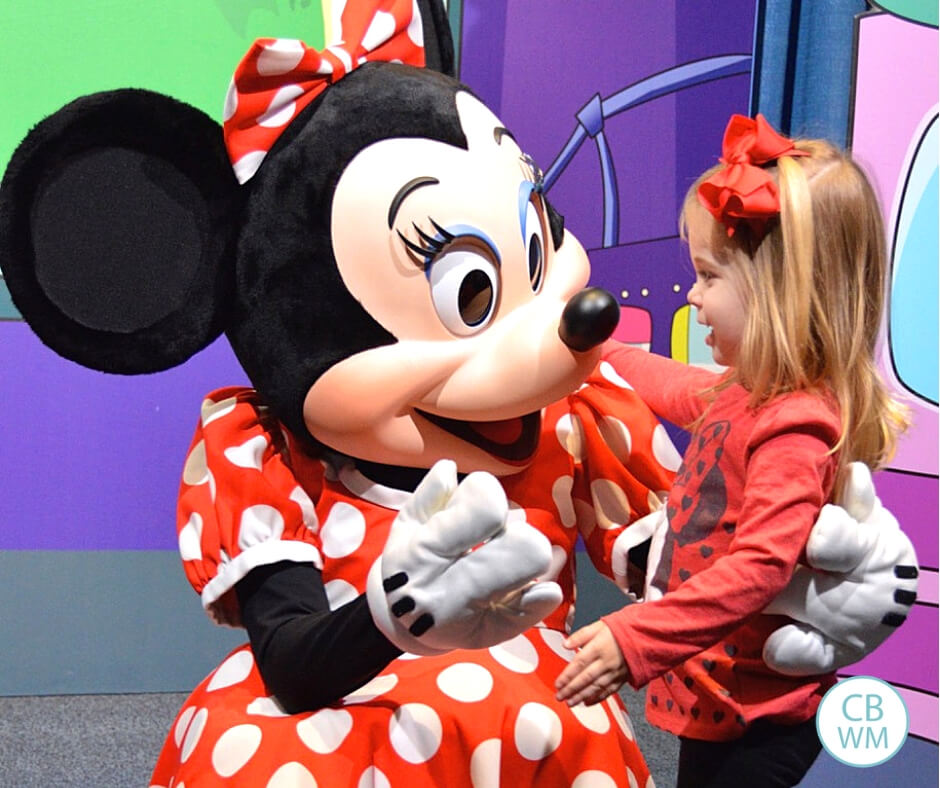Mini Mouse and Toddler at Disney World