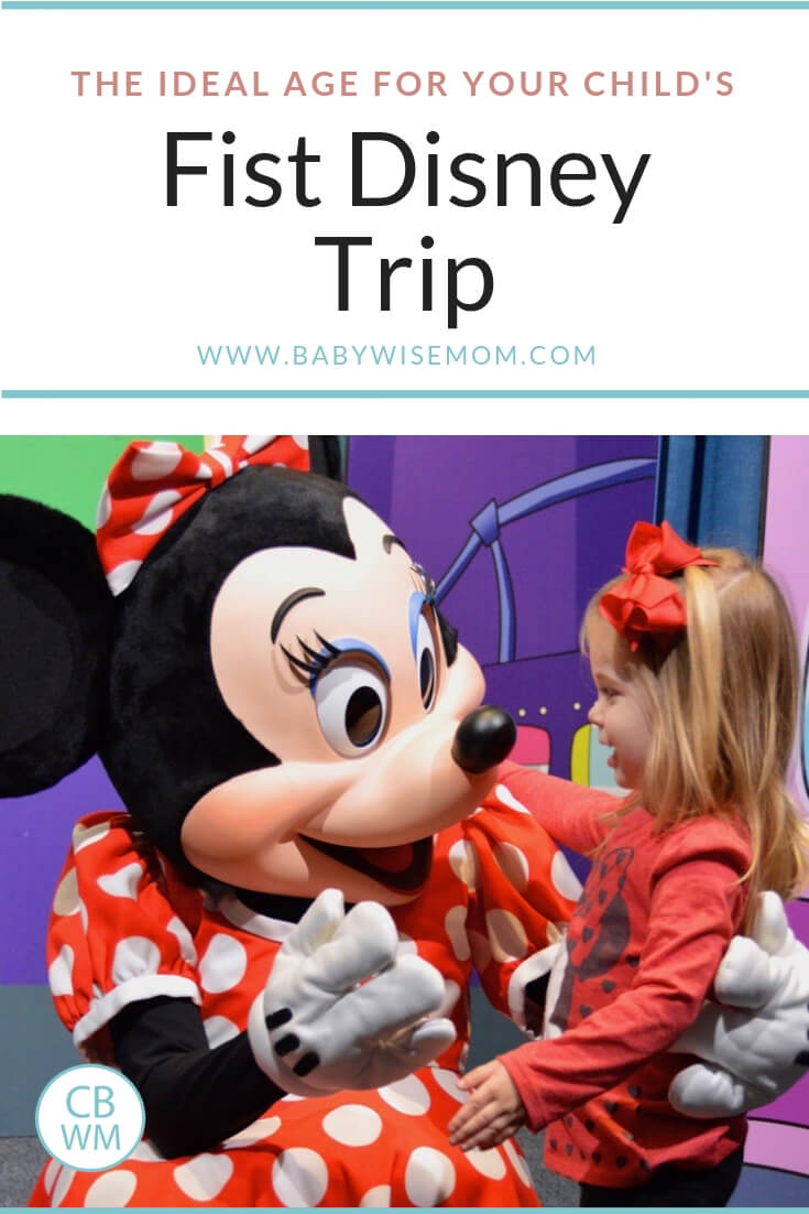The Best Age for Your Chlid's first Disney Trip and Mini Mouse with a cute toddler at Disney World