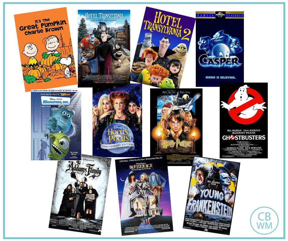 Halloween Movie List for Families