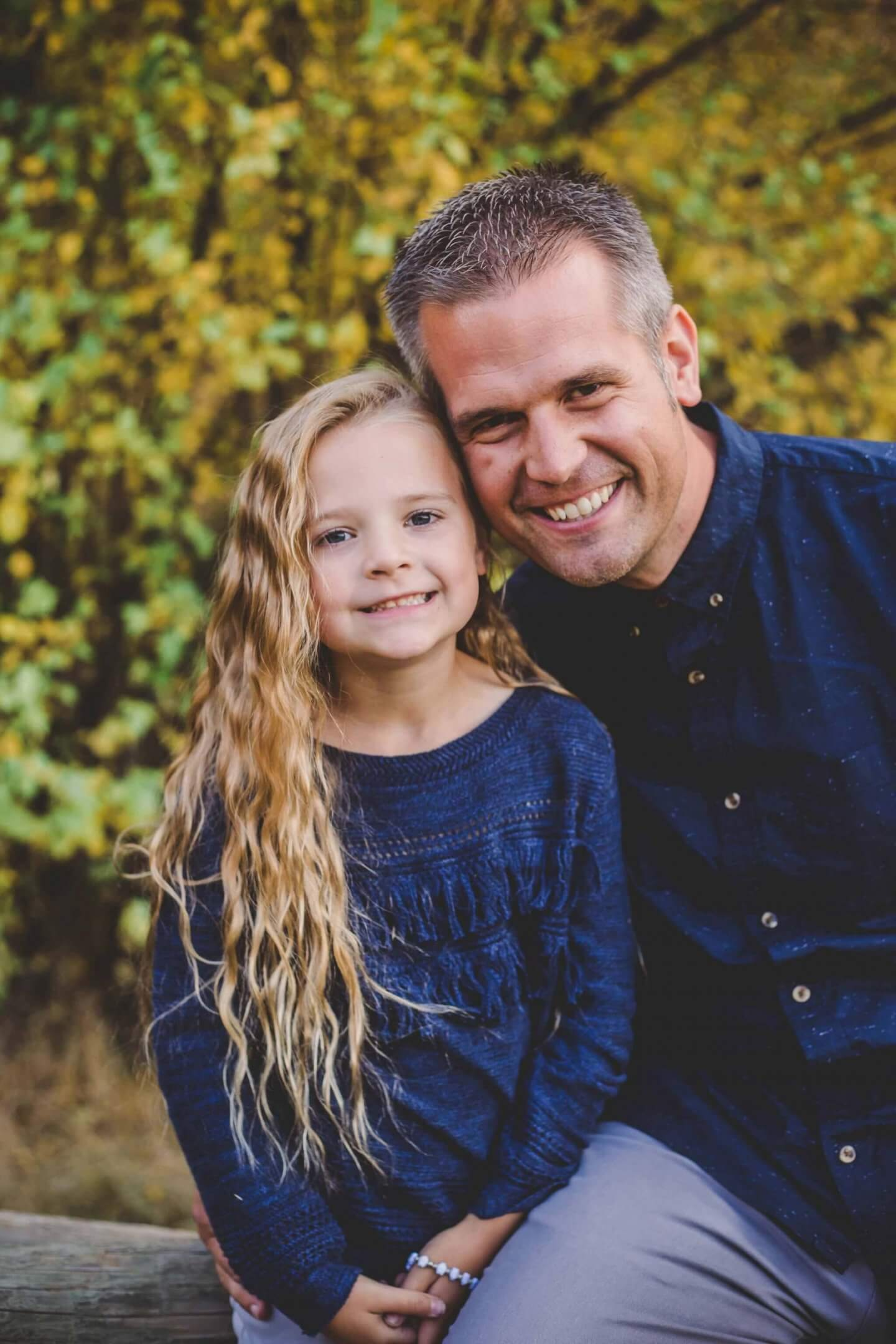 Father and daughter fall photos