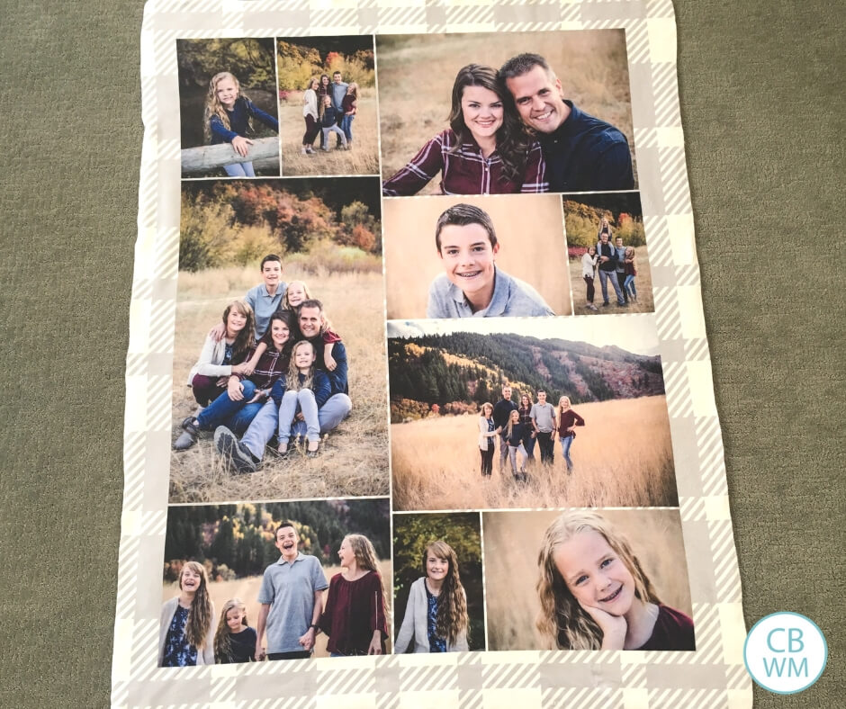 Sherpa photo blanket with family photos