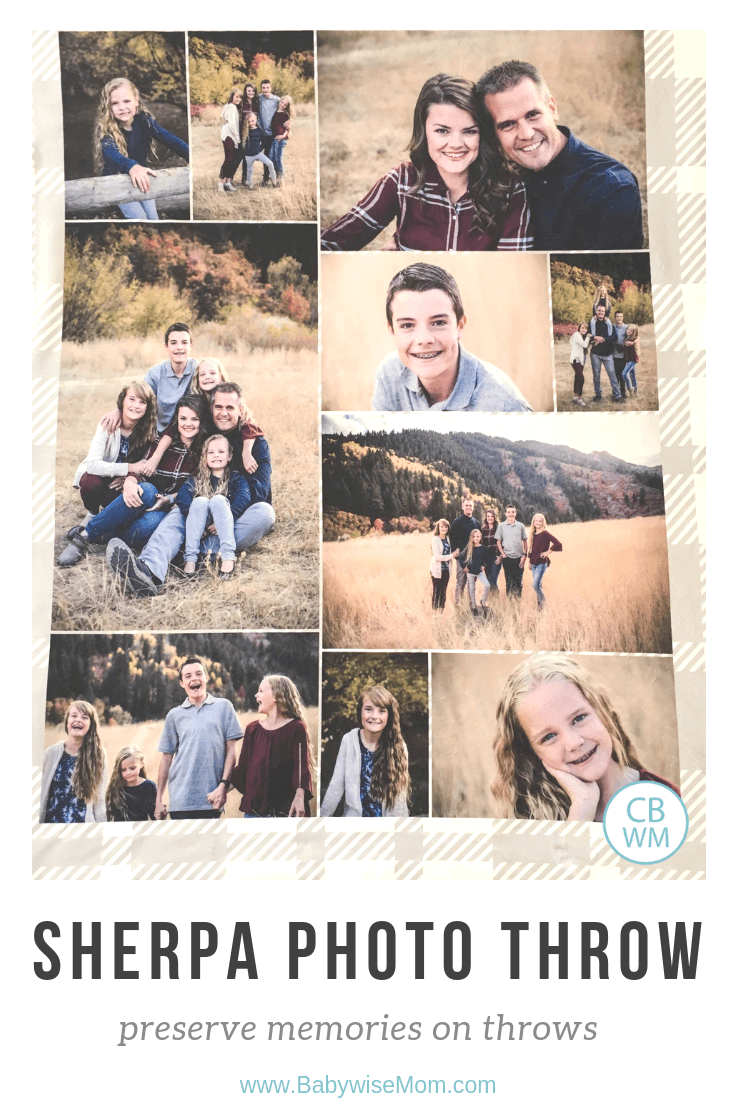 Sherpa Photo Blanket Review Giveaway from Collage.com. Get customized photo throws and blankets with images of your choice. Blanket with family photos on it.