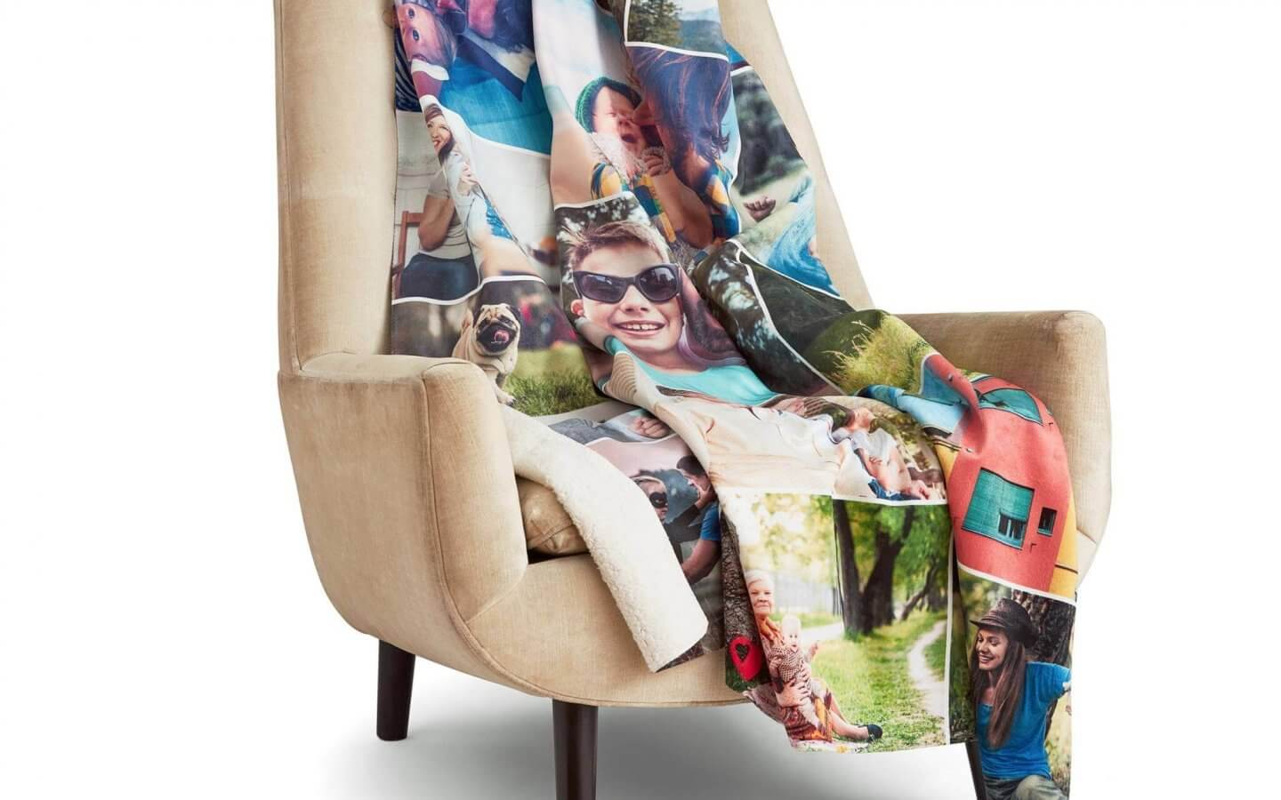 Photo blanket on a chair
