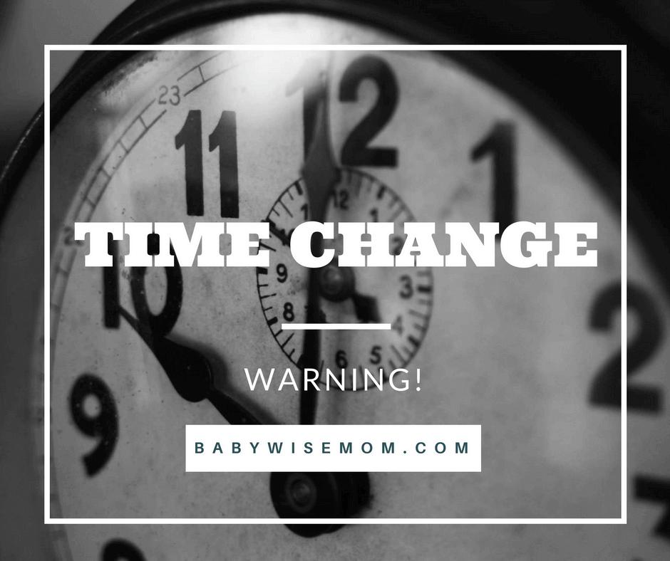 Time change warning